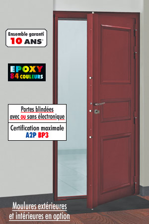Porte blind e double vantaux rmetic tordjman metal for Porte interieur isophonique