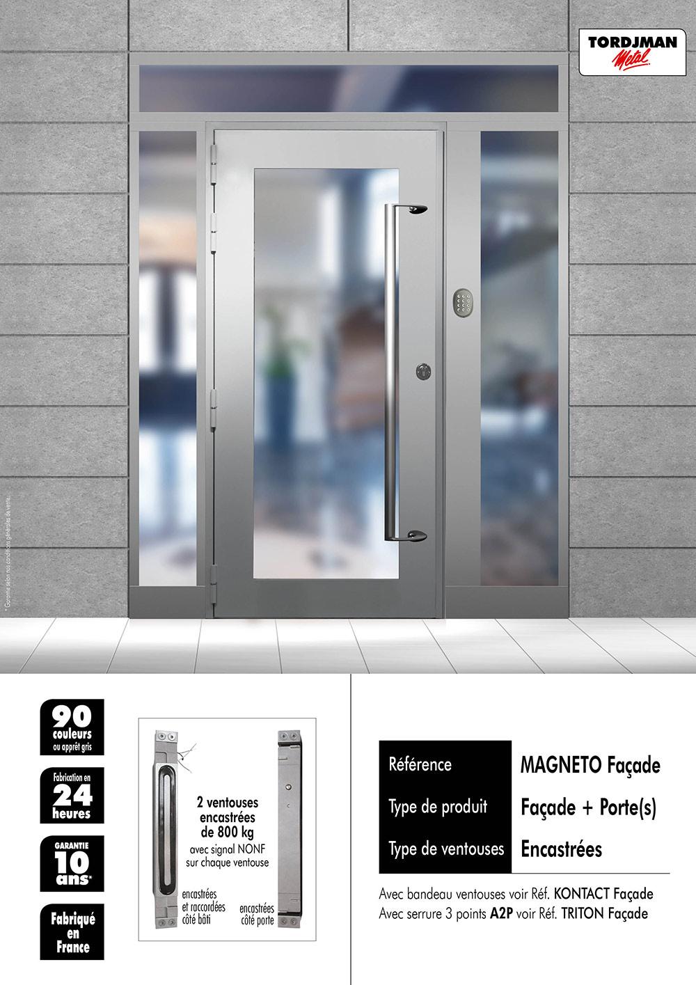Porte avec fermeture magnetique