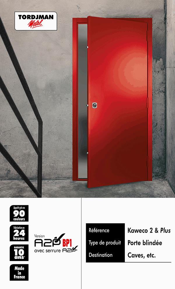 porte blindée de cave certifiée KAWECO 2